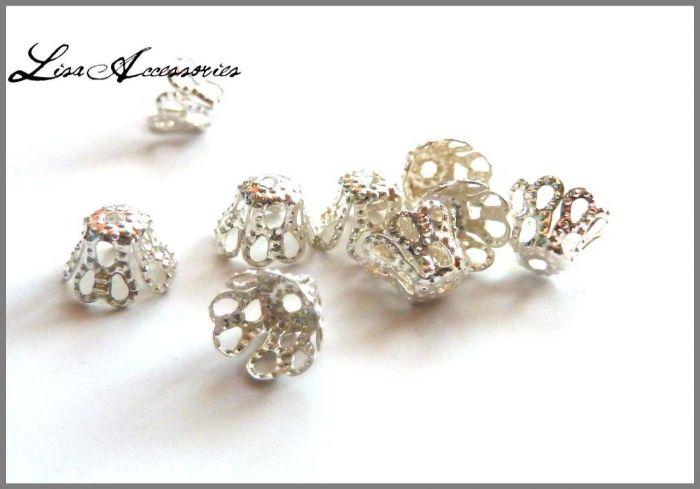 Capacele decorative filigran argintii