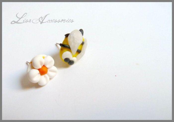 Cercei albinuta si floricica
