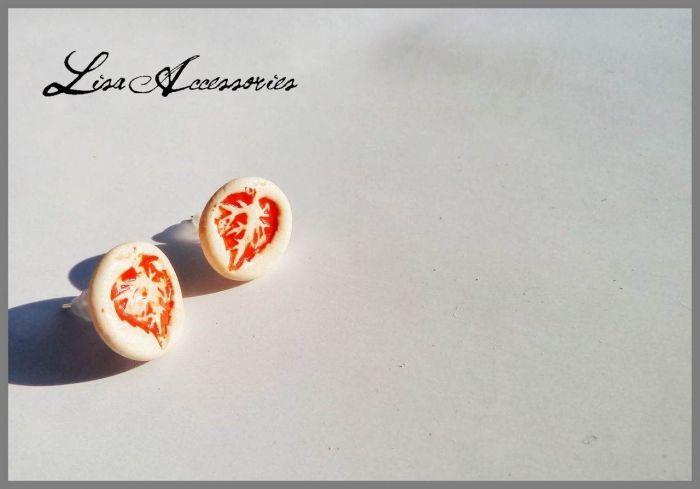Cercei frunzulita portocalie
