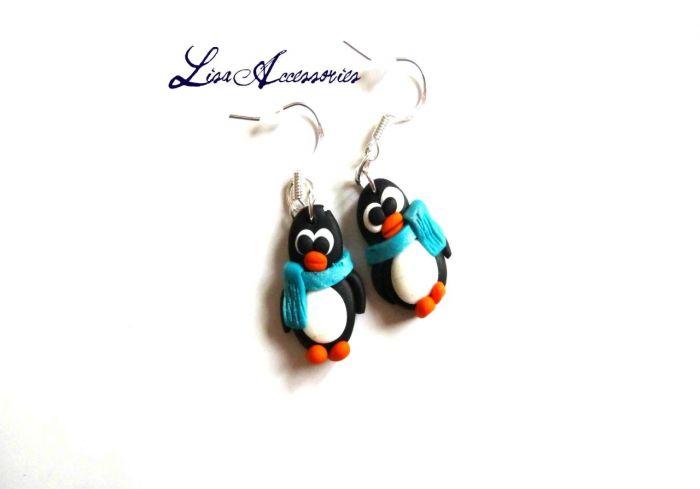 Cercei pinguini veseli
