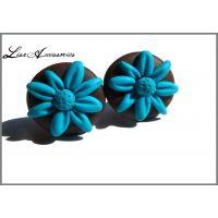 Cercei floricele albastre